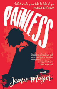 Cover of Painless by Jamie Mayer; silhouette of person kneeling