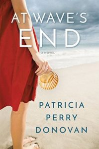 Cover of At Waves End by Patricia Perry Donovan: woman faces an ocean holding a seashell