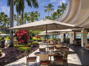 Patio at resort where Kauai Writers Conference is held