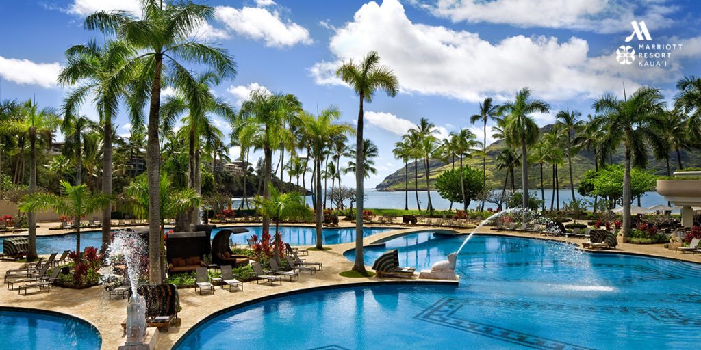Resort pool where Kauai Writers Conference is located